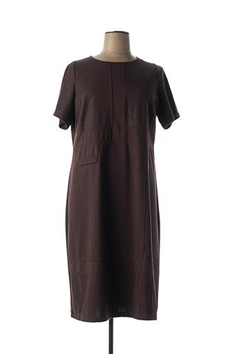 Robe mi-longue marron ALAIN WEIZ pour femme