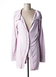 Gilet manches longues violet LOLA ESPELETA pour femme