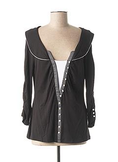 T-shirt manches longues noir BUGARRI pour femme