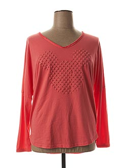 T-shirt manches longues rose AROMA pour femme