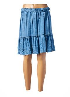 Jupe courte bleu LES PETITES FLEURS pour femme