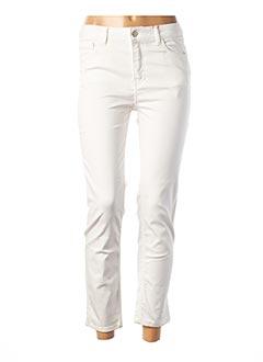 Pantalon 7/8 blanc CONCEPT K pour femme