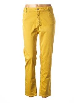 Pantalon 7/8 jaune CONCEPT K pour femme