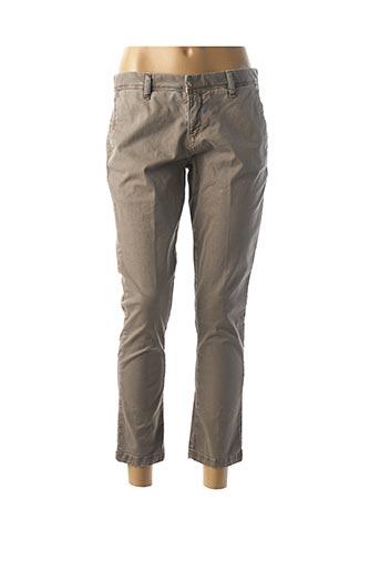 Pantalon 7/8 beige ACQUAVERDE pour femme