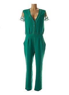 Combi-pantalon vert OPULLENCE pour femme