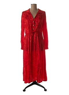 Robe longue rouge OPULLENCE pour femme