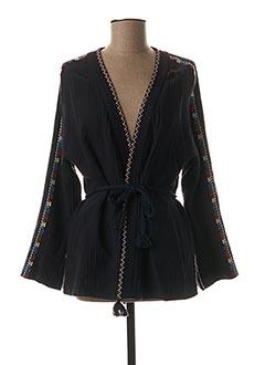 Veste casual bleu SUNCOO pour femme
