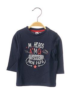 T-shirt manches longues bleu 3 POMMES pour garçon