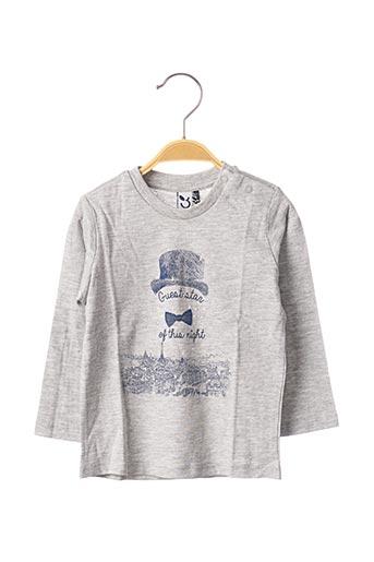 T-shirt manches longues gris 3 POMMES pour garçon