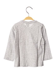 T-shirt manches longues gris 3 POMMES pour garçon seconde vue