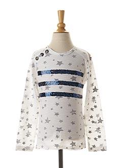 T-shirt manches longues blanc 3 POMMES pour fille