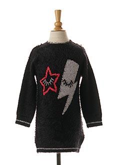 Robe pull noir 3 POMMES pour fille