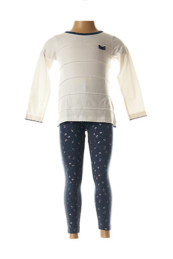 Top/pantalon bleu 3 POMMES pour fille