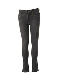 Jeans coupe slim noir 3 POMMES pour fille
