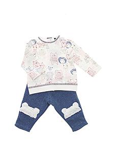 Pull/pantalon bleu 3 POMMES pour fille