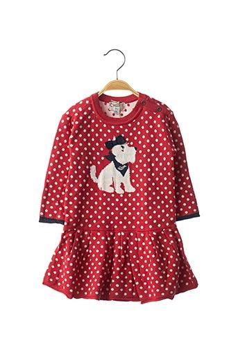 Robe mi-longue rouge CHIPIE pour fille