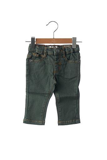 Jeans coupe slim vert JEAN BOURGET pour garçon