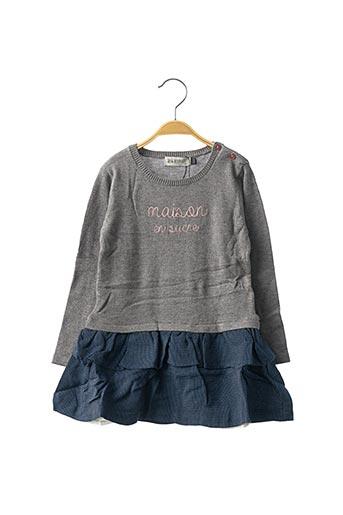 Robe mi-longue gris JEAN BOURGET pour fille
