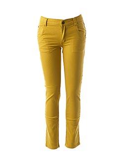 Jeans coupe slim jaune JEAN BOURGET pour enfant
