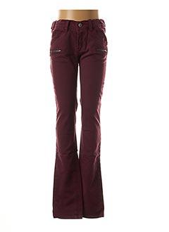 Pantalon casual rouge BECKARO pour fille