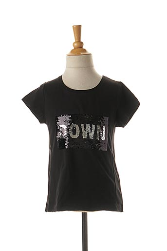 T-shirt manches courtes noir BECKARO pour fille