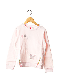 Sweat-shirt rose LILI GAUFRETTE pour fille