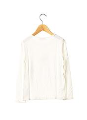 T-shirt manches longues blanc LILI GAUFRETTE pour fille seconde vue