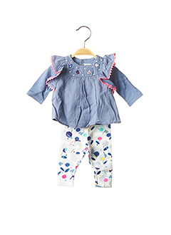 Top/pantalon bleu CATIMINI pour fille