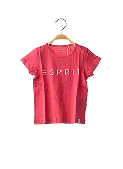 T-shirt manches courtes rose ESPRIT pour fille