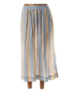 Jupe longue bleu ICHI pour femme