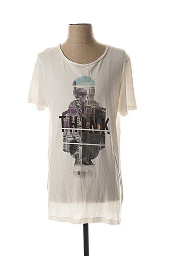 T-shirt manches courtes blanc STRELLSON pour homme