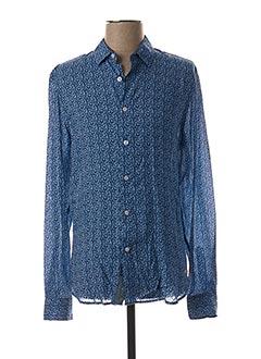 Chemise manches longues bleu FREEMAN T.PORTER pour homme