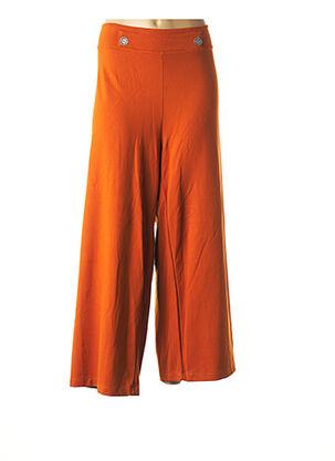 Pantalon casual orange MALOKA pour femme