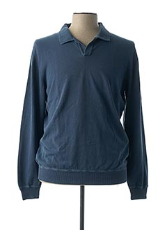 Pull col chemisier bleu ZANONE pour homme
