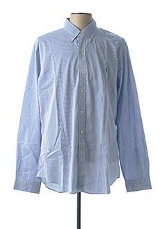 Chemise manches longues bleu RALPH LAUREN pour homme