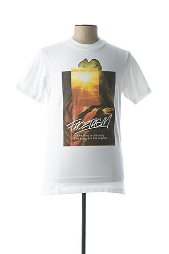 T-shirt manches courtes blanc FACETASM pour homme