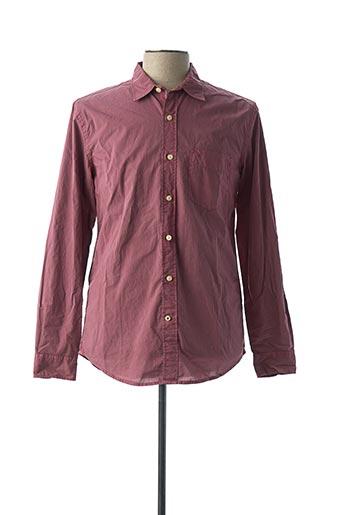 Chemise manches longues rouge DOCKERS pour homme