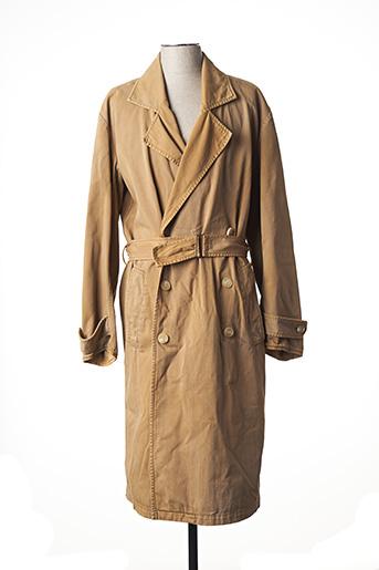 Manteau long beige YEEZY SEASON 6 pour homme