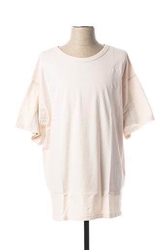 T-shirt manches courtes rose FACETASM pour homme