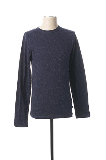 T-shirt manches longues bleu AGNES B pour homme
