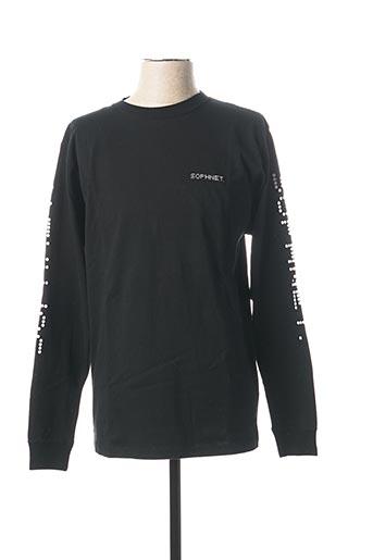 T-shirt manches longues noir SOPHNET. pour homme