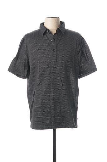 Polo manches courtes noir AGNES B pour homme