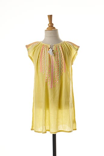 Robe mi-longue jaune SUNUVA pour fille