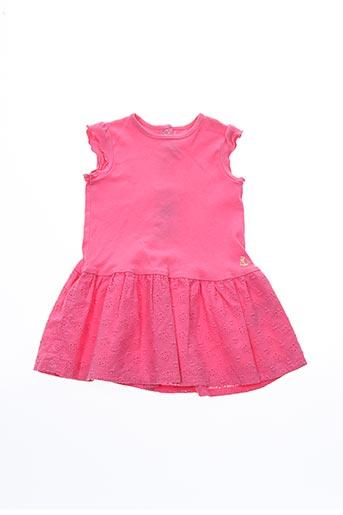 Robe mi-longue rose PETIT BATEAU pour fille
