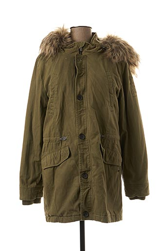 Manteau long vert PEPE JEANS pour fille