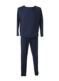 Pyjama bleu HANRO pour homme