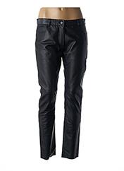 Pantalon casual noir MY SUNDAY MORNING pour femme seconde vue