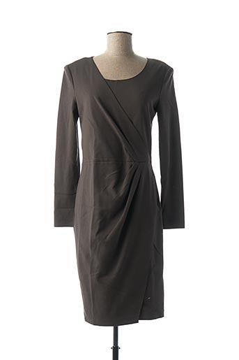 Robe mi-longue marron ARMANI pour femme