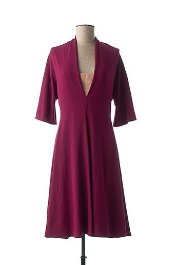 Robe mi-longue violet PAULE KA pour femme