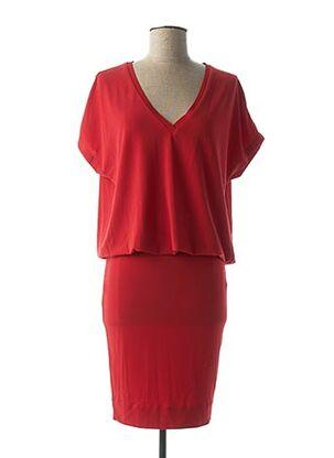Robe mi-longue rouge BY MALENE BIRGER pour femme